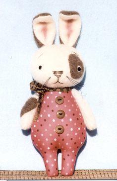 A Primitive E-PATTERN Sew So Cute Bunnies от HappyHeartPatterns