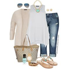 Plus Size - Casual Look by alexawebb on Polyvore #plussize #plussizefashion #PolyvorePlus #alexawebb @alexandrawebb