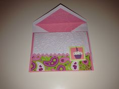 Pink paisley birthday card.  Inspired by Simple cupcakes from Scrapnextra.