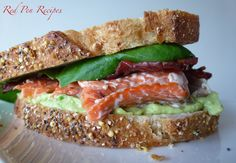 Proven recipes from a self-taught baker. Salmon Sandwich, Sandwiches, Recipes, Food, Meals, Yemek, Recipies, Recipe, Eten