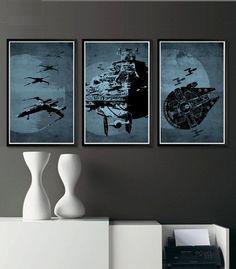Star Wars 11X17 Poster Set by sanasini on Etsy, $40.00