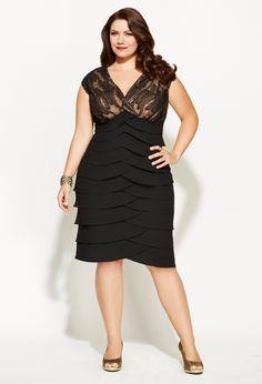 Pleated Sequin Sheath Dress, Plus Size