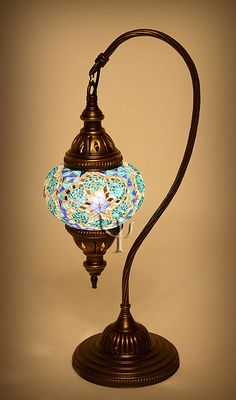 Turkish Mosaic Lamp .... i need one of these - or a hanging version too