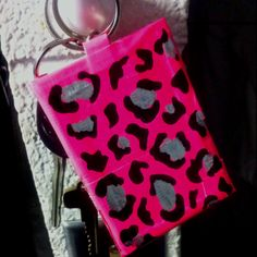 #leopard #ducktape ID holder #keychain homemade