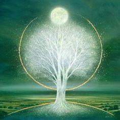 beneath the moon original oil by mark duffin Tree Of Life Art, Tree Art, Heart Clip Art, Small Paintings, Angel Art, Beautiful Artwork, Contemporary Artists, Japanese Art, Fantasy Art