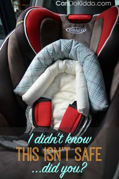 Why infant head supports - strap covers and other accessories aren't safe. PLUS 9 other common car seat mistakes that might surprise you! CanDo Kiddo