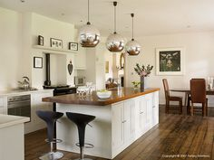 Plain English kitchen in Coral & Rob Garlick's Edwardian mansion located near Godalming in Surrey.