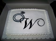 Image detail for -... ring bridal shower cake by hrvzd this is an 11 x 15 white sheet cake