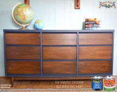 The Painted Drawer, http://www.thepainteddrawer.com/, of Bethesda Maryland used General Finishes Coastal Blue Milk Paint and Java Gel Stain to give this MCM dresser a handsome makeover.  You can find your favorite GF products at Woodcraft, Rockler Woodworking stores or Wood Essence in Canada. You can also use your zip code to find a retailer near you at http://generalfinishes.com/where-buy#.UvASj1M3mIY. #generalfinishes #gfmilkpaint #javagel #mcm
