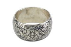 Silver coated brass, intricate design and a hand-painted touch create a reassuring sense of quality and beauty. Pair this stylish piece up with our Moonlight earrings and necklace for every-day elegance. Bangles, Bracelets, Moonlight, Rings For Men, Artisan, Silver Rings, Brass, Hand Painted, Pairs