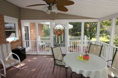 interior view of screened-in porch - Kris Konstruction