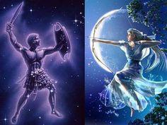 Orion ve Artemis Gizemi Orion Mythology, Greek Mythology, Apollo And Artemis, Artemis Fowl, Orion Tattoo, Mythological Characters, Greek Pantheon, Roman Gods, Fantasy Forest