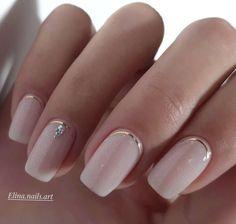 Pink Nail Designs, Short Nail Designs, Acrylic Nail Designs, Nail Design For Short Nails, Nails Design, Nude Nails, Gel Nails, Acrylic Nails, Glitter Nails