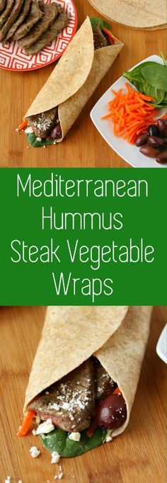 mediterranean steak wraps