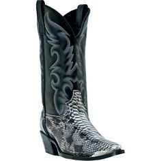 """These authentic western faux leather mens cowboy boots from Laredo feature a 12"""" leather-like shaft, j toe, and cowboy heel. Constructed from high quality materials, these boots are made to last. For"""