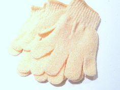 EXFOLIATING GLOVES for Bath and Shower by Bailoubay on Etsy.