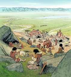 André Houot - A Magdalenian Camp about 13,500 BCE