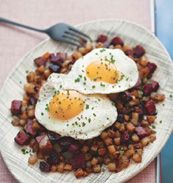 Smoked-Meat Hash, adapted from The Mile End Cookbook, Noah and Rae Bernamoff (Clarkson Potter)