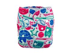 OS Fashion Pocket Cloth Diaper,Baseball