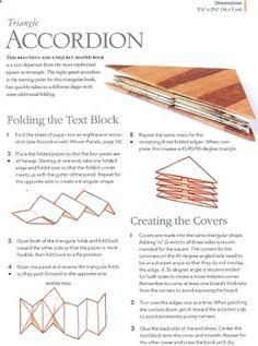 triangle accordion book tutorial - scroll down