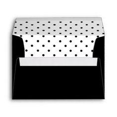 Simple Dots Wedding Invitation Black Envelope envelopes custom unique diy cyo personalize idea envelope