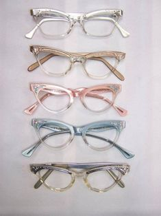 79ba08415a Old Things cat eye glass Vintage Love