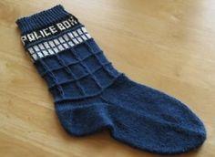 TARDIS socks. um hi