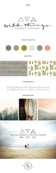 Earthy, modern, inspired and friendly. Such a gorgeous and unique brand board.