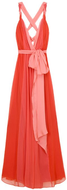 Love this as bridesmaid gowns. Halston Heritage Rolled Strap Grecian Gown in Red. Pretty Outfits, Pretty Dresses, Beautiful Dresses, Cute Outfits, Gorgeous Dress, Flowy Dresses, Mode Style, Style Me, Look Fashion
