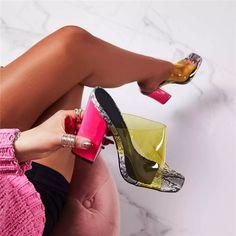 Pink Block Heels, Pink Heels, Stiletto Heels, Strappy Heels, Stilettos, Balenciaga, Ego Shoes, Shoes Heels, Heeled Sandals