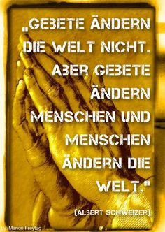 Beten für die Bewegung