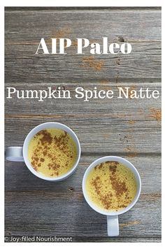 AIP Pumpkin Spice Natte | Joy-filled Nourishment