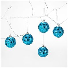 $4 Chic Christmas on a Single Mommy budget - 9-Pack Fashion Mirror Glitter Ball Ornaments