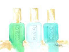 Essie Nail Polish Watercolor Print by lauratrevey on Etsy, $12.00