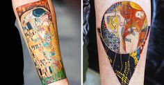 10+ Gustav Klimt Tattoos To Show Your Artistic Side | Bored Panda
