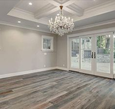 Flooring, wall color and beautiful French door. Final decision