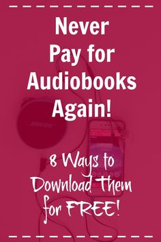 8 Ways to Get Audiobooks for FREE! - Kids Audio Books - ideas of Kids Audio Books - Did you know this? You can get almost any audiobook you want for FREE! Click through for all the details. This will save SO much money! Free Books To Read, Free Books Online, Good Books, Ya Books, Teen Books, Audio Books For Kids, Free Audio Books, Audible Books Free, Audio Books App
