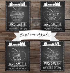 Teacher appreciation Week Customized Apple chalkboard, any font, any quote/any colour. Fully personalised digital image printable