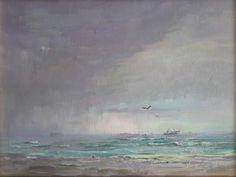 Evening Showers in the Bay by Liz Bonham Oil ~ 12 x 16