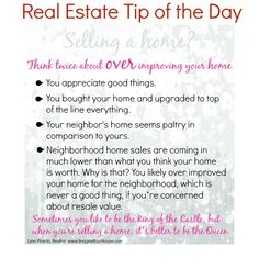 "Tanjay Real Estate Tip of The Day:   ""It's better to be the QUEEN rather than a KING when you're selling a Home."""