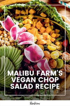 This vegan chop salad is fresh and full of flavorful vegetables, and all the components can be made a few days in advance. #salad #healthy #lunch Healthy Lunches For Work, Vegan Lunches, Chopped Salad Recipes, Healthy Salad Recipes, Roasted Beets, Roasted Butternut Squash, Malibu Farm, Warm Salad, Different Vegetables