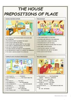 A collection of English ESL Prepositions of place worksheets for home learning, online practice, distance learning and English classes to teach about Grammar Practice, Teaching Grammar, Grammar And Vocabulary, Grammar Worksheets, English Vocabulary, English Grammar, Teaching English, Printable Worksheets, Vocabulary List