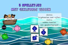5 spelletjes met gekleurde vissen van katrotje