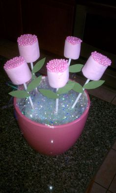 how to make a wedding cake at home marshmallow flower pops all you need are pink and white 15881