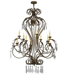 Meyda Tiffany Josephine 10 Light Crystals Chandelier