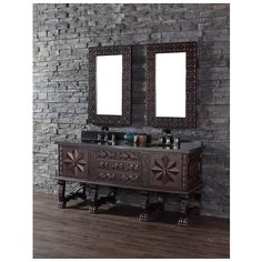 """Best Deal - James Martin Solid Wood 72"""" Balmoral Double Bathroom Vanity in Antique Walnut 150-V72-ANW"""