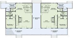 Multi-Family Plan 82306 Level One  2902 total Sq Ft