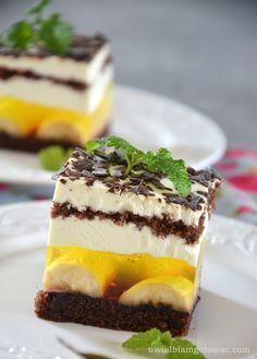 Polish Recipes, Polish Food, Apple Cake, Homemade Cakes, Cheesecake, Dessert Recipes, Food And Drink, Pudding, Tasty