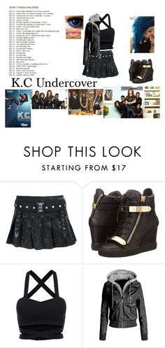 """Day 4 - K.C Undercover"" by bubble-loves-you ❤ liked on Polyvore featuring Giuseppe Zanotti, LE3NO, women's clothing, women, female, woman, misses and juniors"