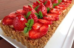 Tarte fraises aux 2 citrons